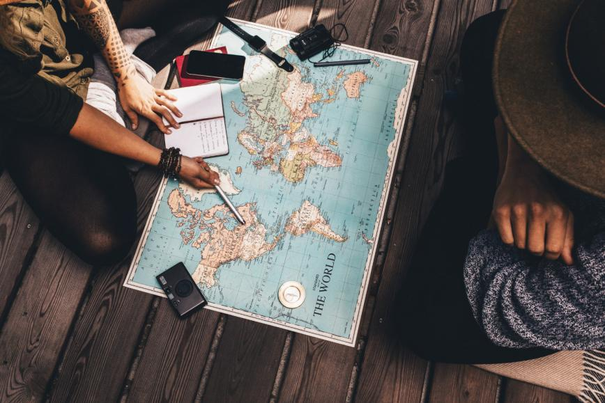 World travel study English abroad