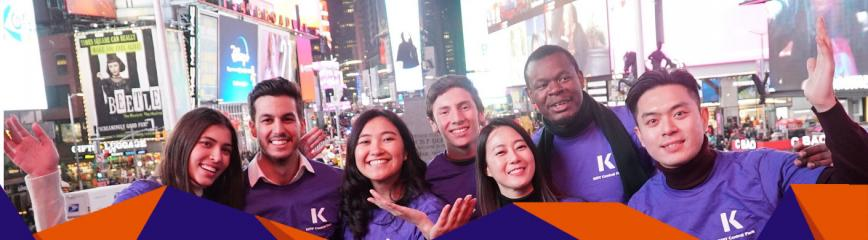 student group in times square
