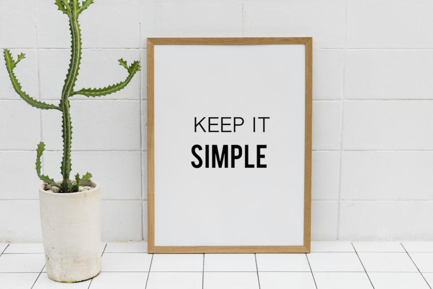 keep it simple - proofread