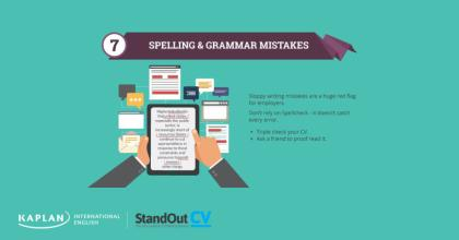 Tip 7: Spelling and grammar mistakes