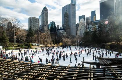 ice skating in New York