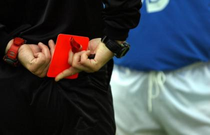 history of red card