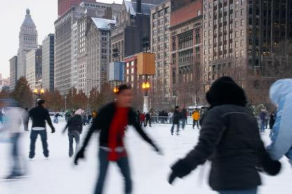 Chicago die beste Stadt in den USA - Downtown Ice Skating