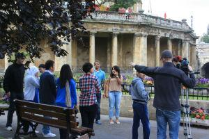 Filming our English school in Bath