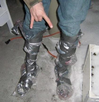 homemade wellies