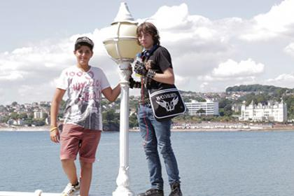 Young learner students in Torquay, England