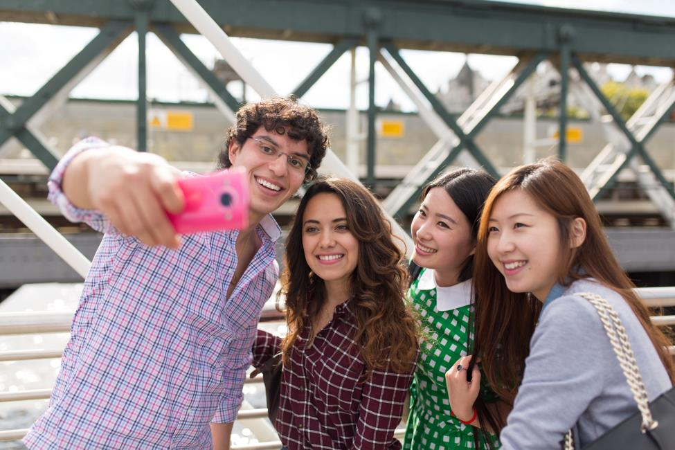 A selfie is a fun way to show your friends what you are up too!