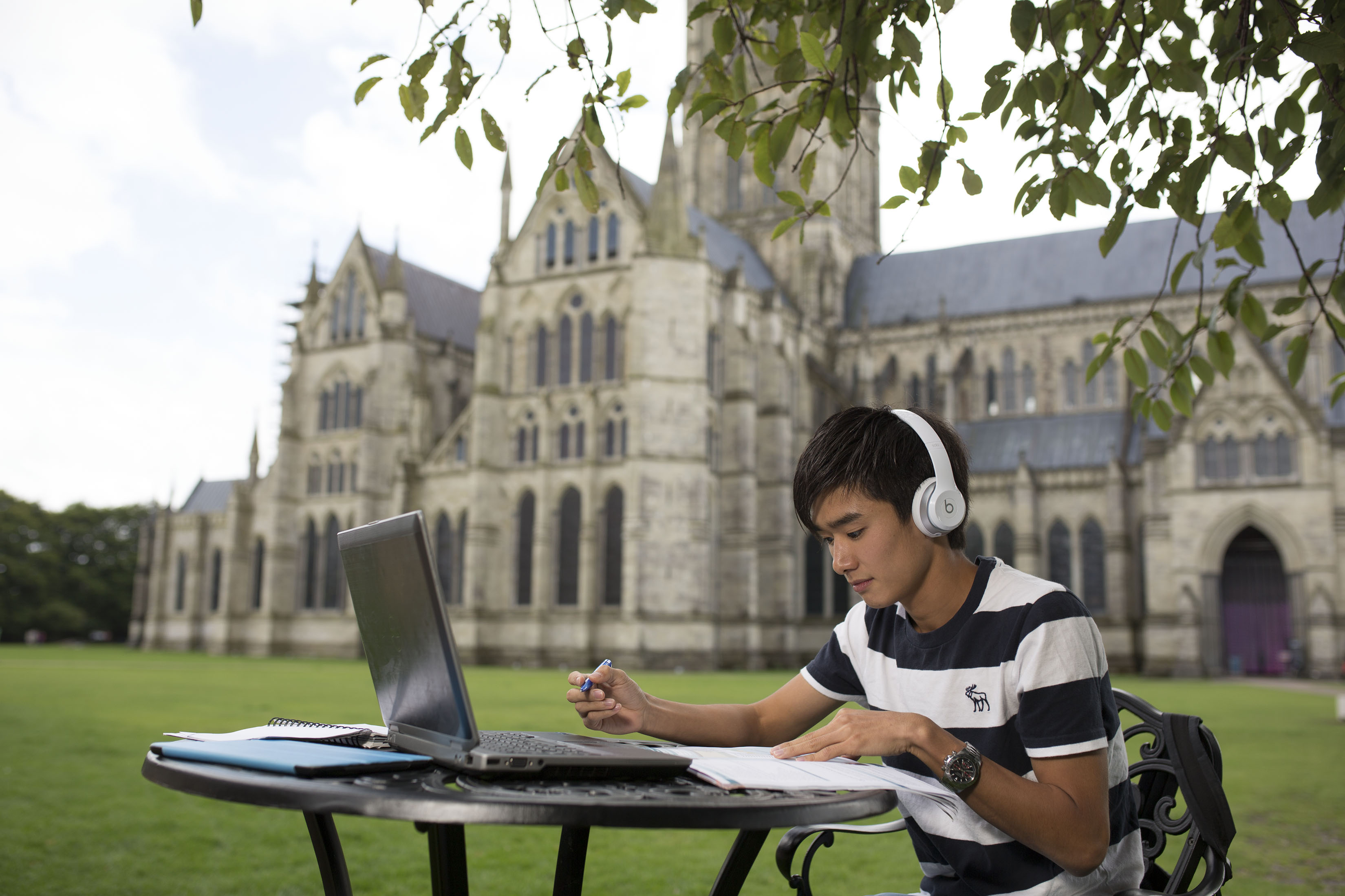 Student at Salisbury Cathedral