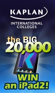 English courses provider Kaplan offers iPad2 competition for 2000 likes on Facebook
