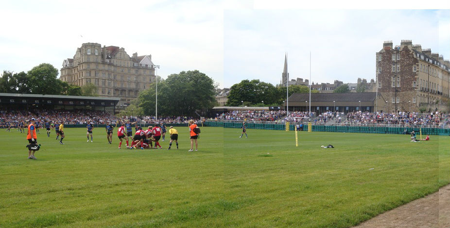 The students saw Bath Rugby versus London Welsh