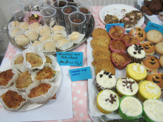 The yummy cakes made for the bake sale