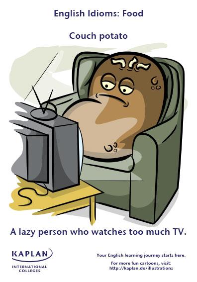 couch potato idioms