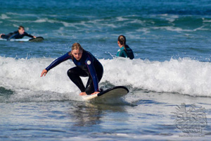 Daniela surfing in Sydney