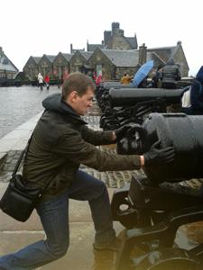 Georgy at edinburgh castle - visit Scotland
