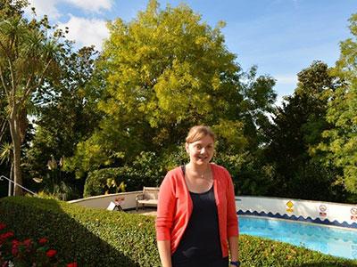 Lara, a Swiss student in Torquay