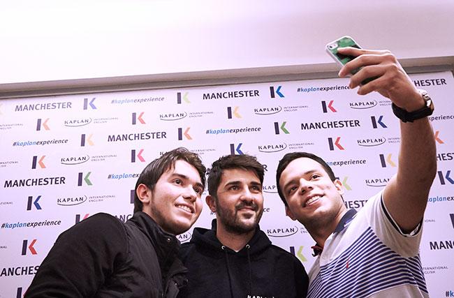 David Villa's #KaplanExperience in Manchester