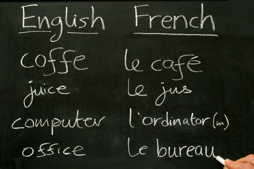 english and french