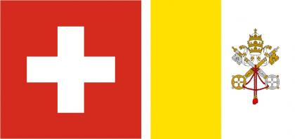 Switzerland and Vatican City flags
