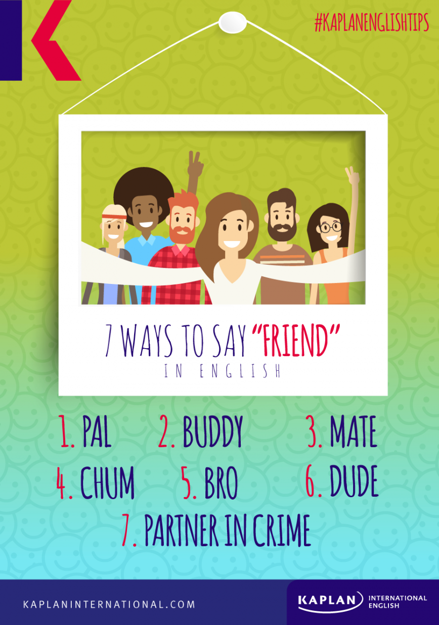 7 ways to say 'friend' in English