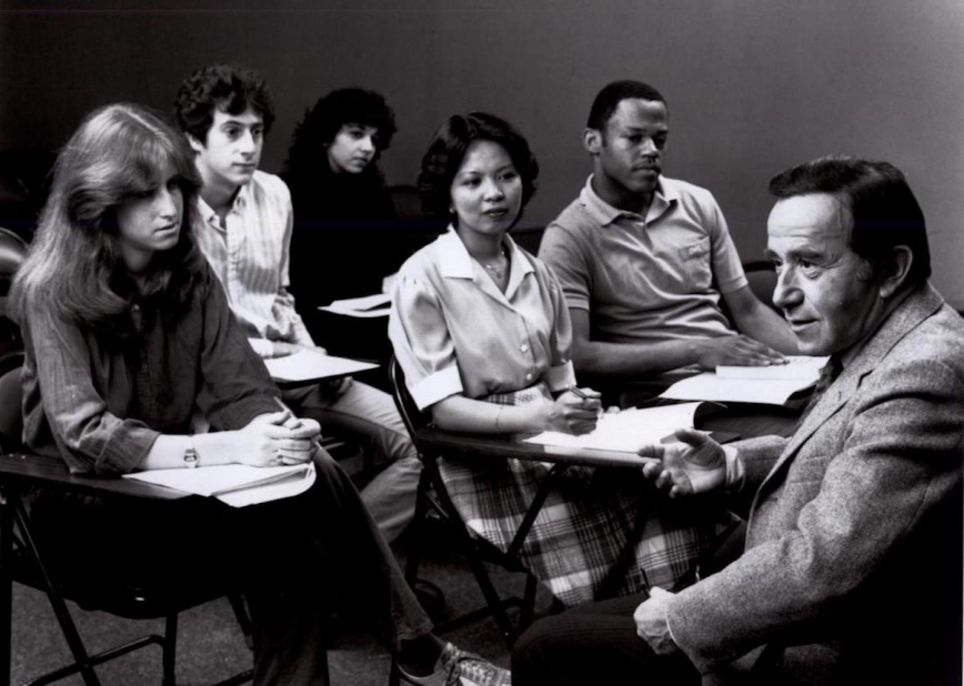 Stanley Kaplan teaching students