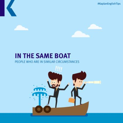 travel idioms – in the same boat