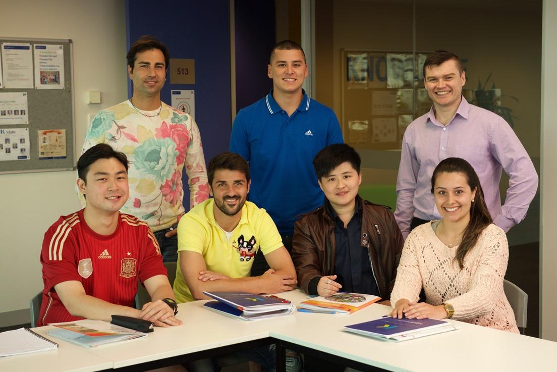David Villa en Kaplan International