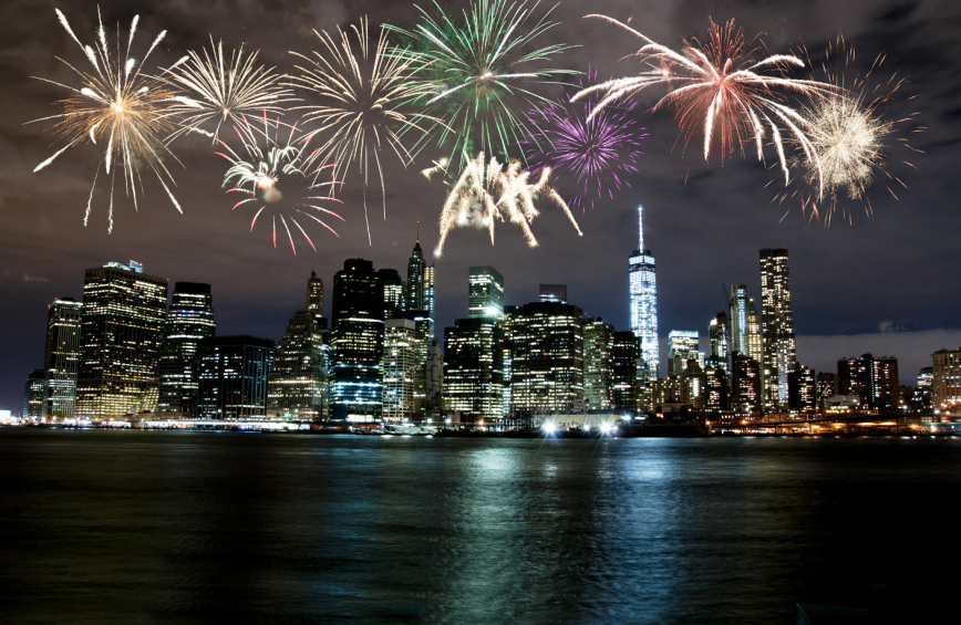 New York New Years fireworks