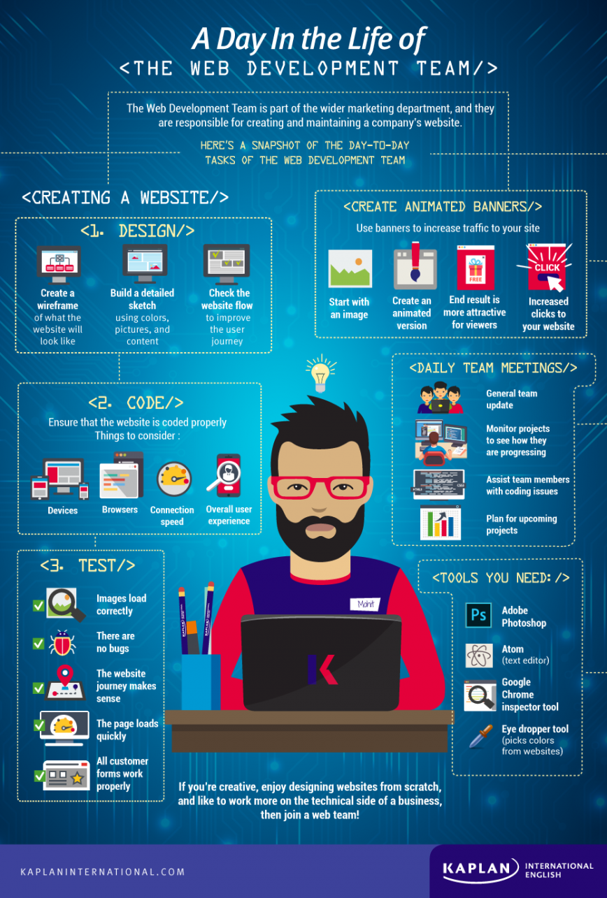 Web development infographic