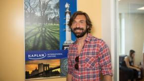 Pirlo studying at Kaplan