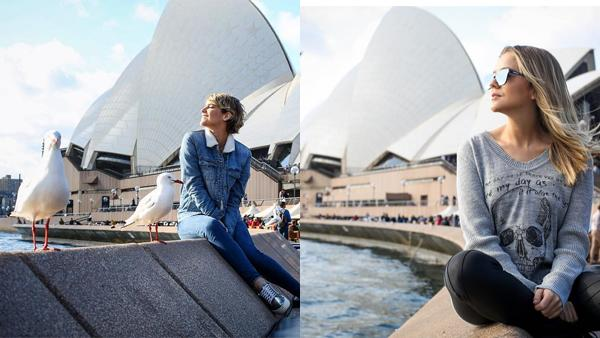 pictures in front of the sydney opera house