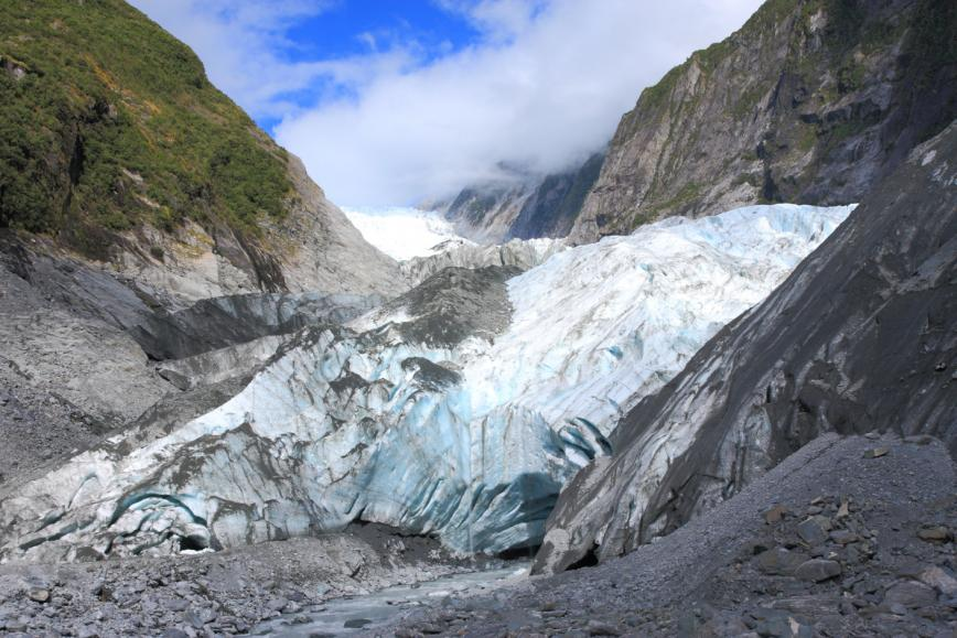 The Franz Joseph glacier is one of the most beautiful ice environments in the world.