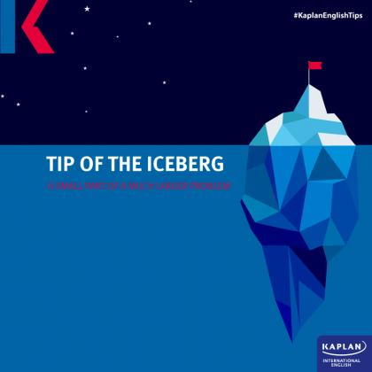 winter idiom tip of the iceberg