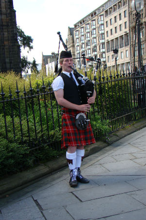 Anita's favorite Scottish experience has been listening to bagpipes