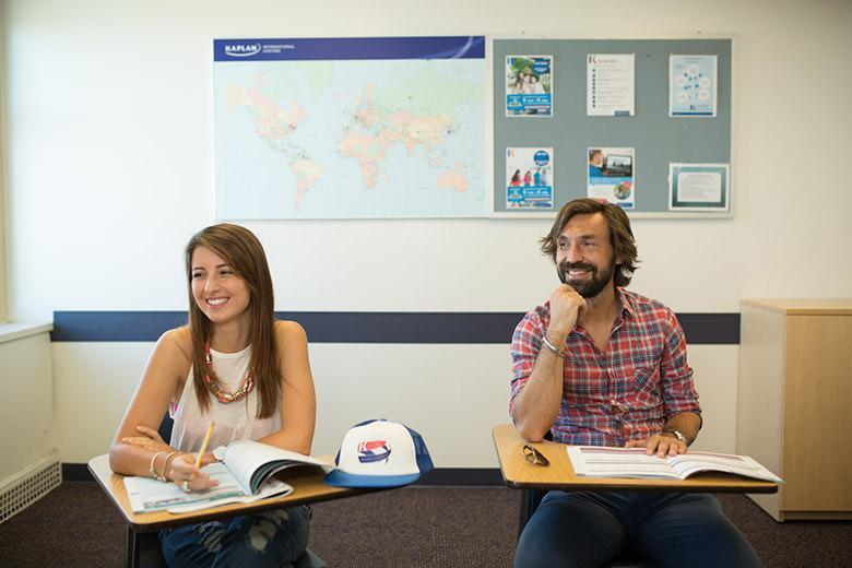 Andrea Pirlo studying English in Kapan New York