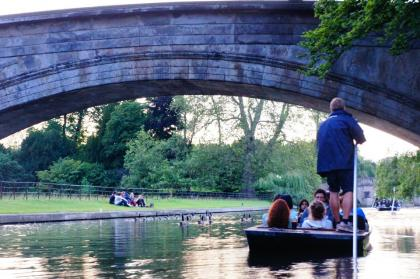 Students enjoying the punting