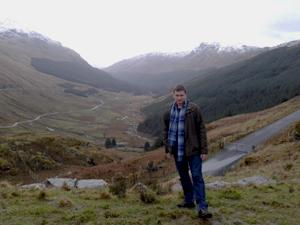 Georgy in the highlands - visit Scotland