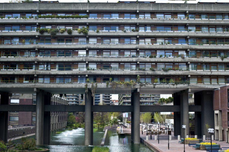 The Barbican is a great example of the British brutalist architecture of the 60s and 70s.